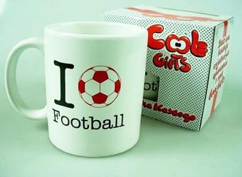 Kubek porcelanowy z nadrukiem I love Football / Porseleinen mok I Love Football